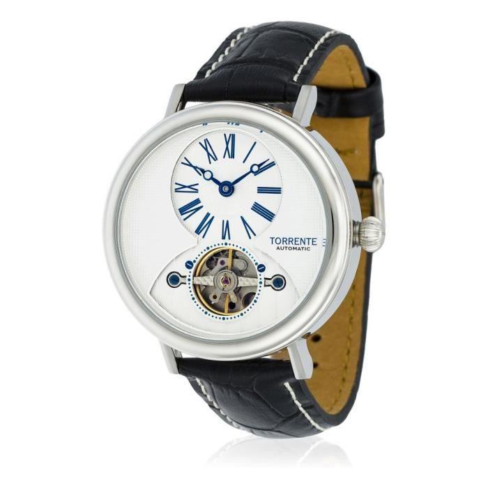 Torrente - Montre Homme Automatique -NEW YORK- Bracelet cuir - TB320C2BC1 0,000000 Blanc