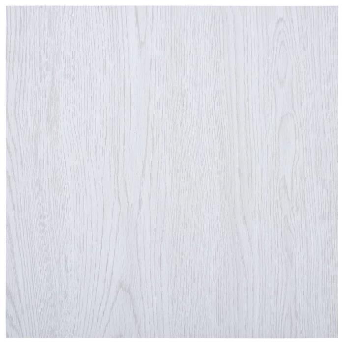 vidaXL Planches de plancher autoadhésives 5,11 m² PVC Blanc