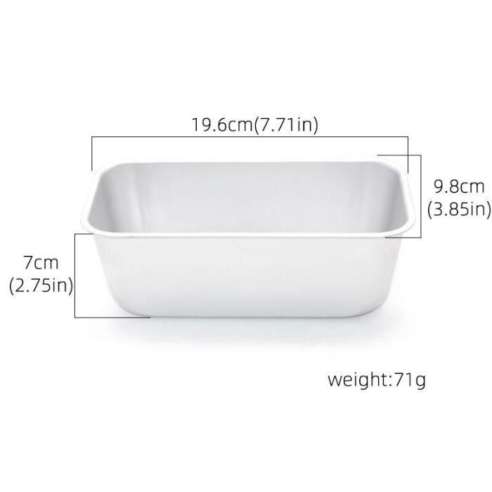 Size 5 -Moule à pain rectangulaire en aluminium,pour gâteau,Toast,Brownie,outils de cuisine,accessoires