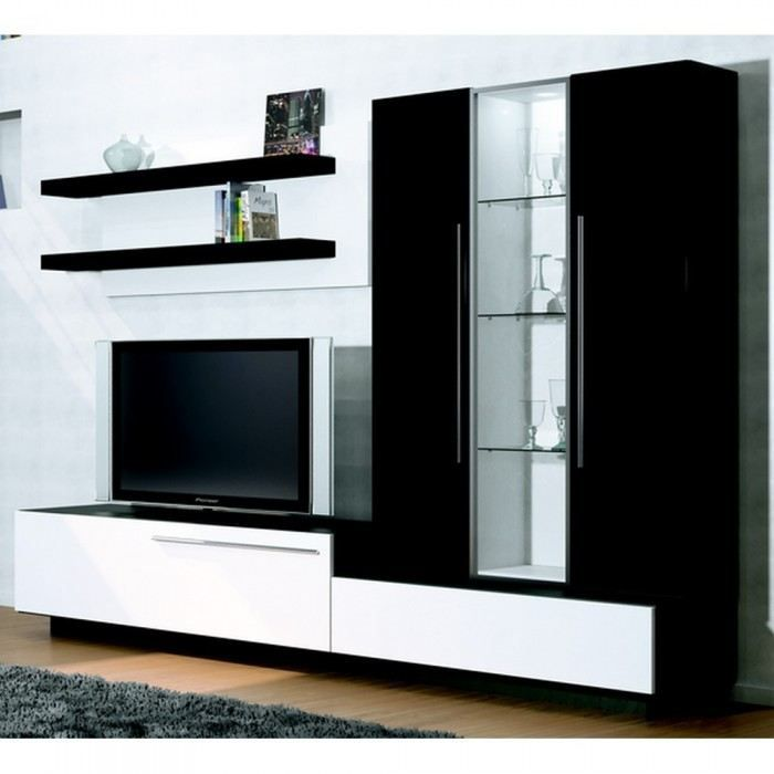 Meuble tv mural shop window mati re m lamine co achat vente meuble tv meuble tv mural shop - Meuble tv mural cdiscount ...