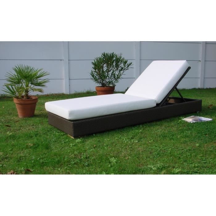 lit de piscine resine tress r couleur chocolat achat vente chaise longue transat lit de. Black Bedroom Furniture Sets. Home Design Ideas