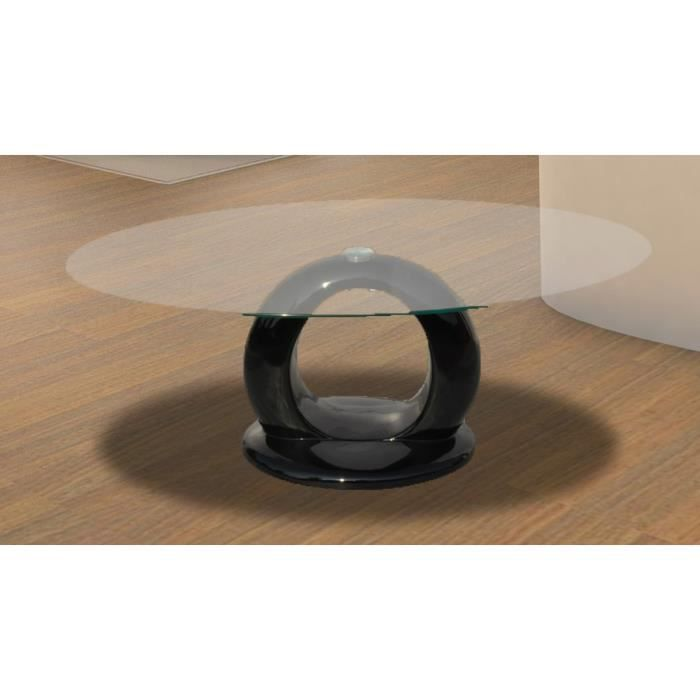 Table basse ovale en verre achat vente table basse for Protection table basse en verre