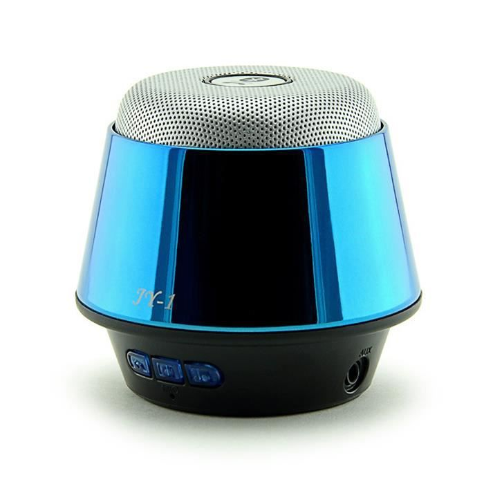 enceinte bluetooth portable voiture mains libres m tal r actif haut parleur de carte cadeau bleu. Black Bedroom Furniture Sets. Home Design Ideas