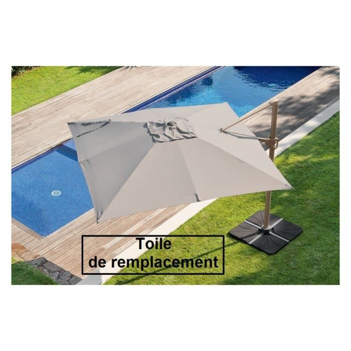 toile pour parasol decentre fresno carre taupe achat vente toile de parasol toile parasol. Black Bedroom Furniture Sets. Home Design Ideas