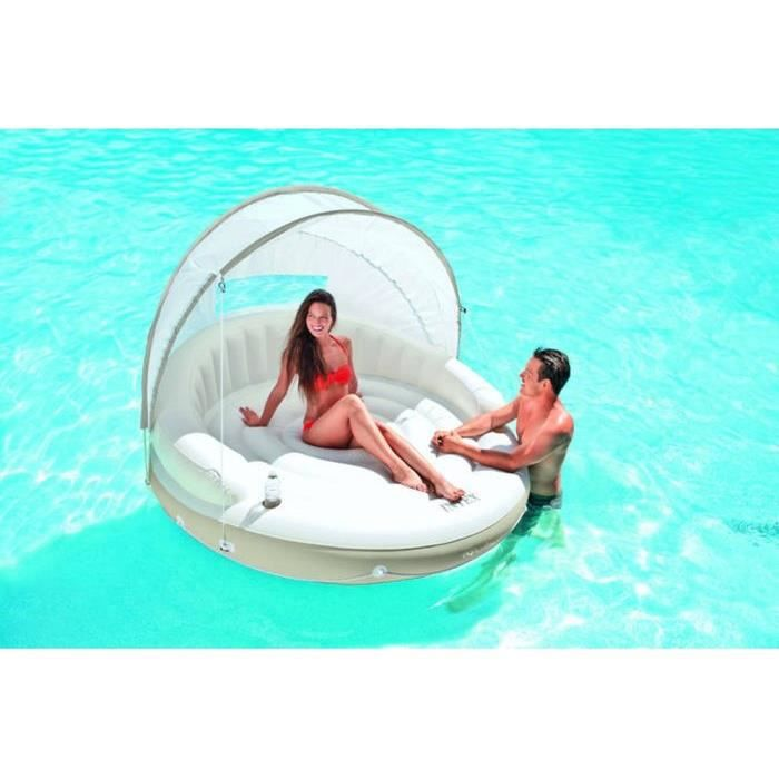 Banquette 2 places lounge caraibes gonflable intex achat for Piscine gonflable pas cher