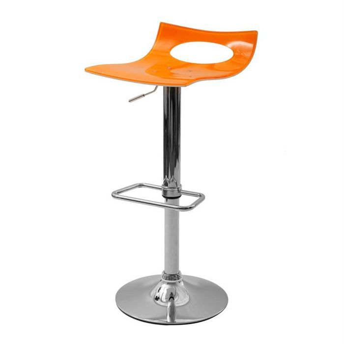 tabouret de bar design orange et blanc calypso achat. Black Bedroom Furniture Sets. Home Design Ideas