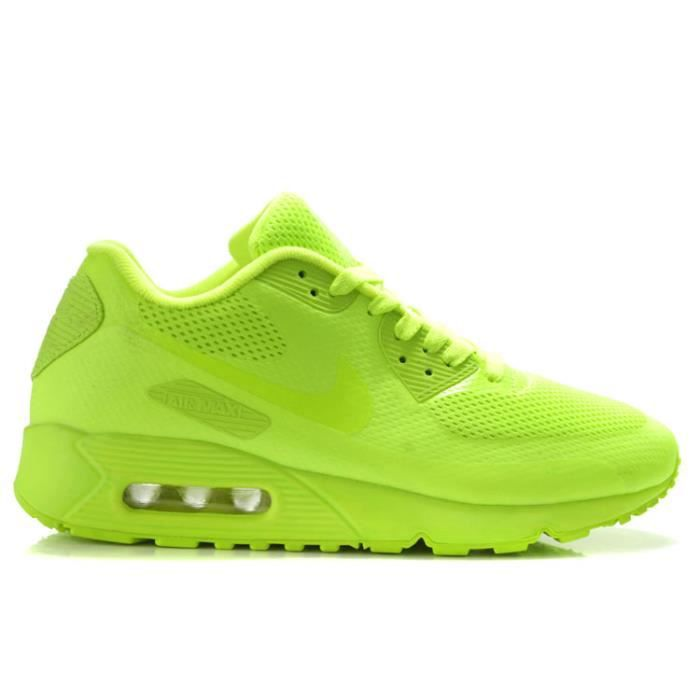 Nike Air Max 90 Hyperfuse Fluo Noir Vert Fluo - Cdiscount Chaussures