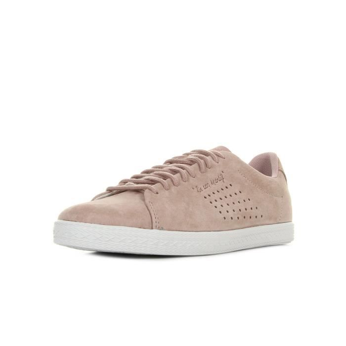7f140410cd77 Baskets Le Coq Sportif Charline Nubuck Pale Mauve Rose Rose - Achat ...