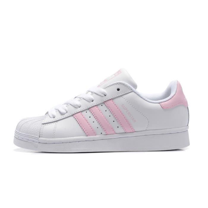 Basket Adidas Superstar W FemmeJunior Chaussures BA9915 Blanc/Rose