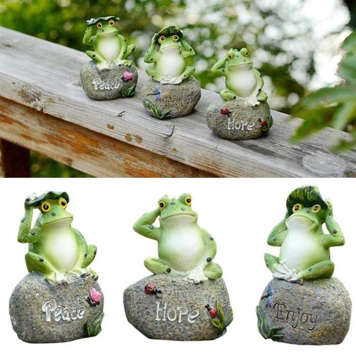 LIOOBO m/éditation Yoga Grenouille Statue Figurine Jardin Sculpture Bonne Chance Feng Shui vastu pour Jardin ext/érieur Zen d/écorations de Jardin