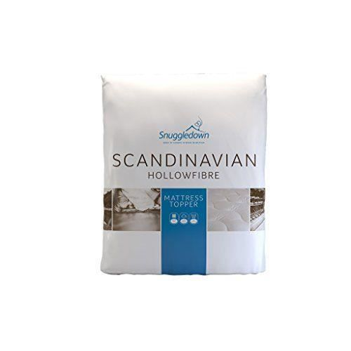 snuggledown scandinaves surmatelas en microfibre blanc. Black Bedroom Furniture Sets. Home Design Ideas