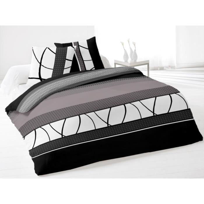 parure housse de couette coton 260x240 cm leon achat. Black Bedroom Furniture Sets. Home Design Ideas