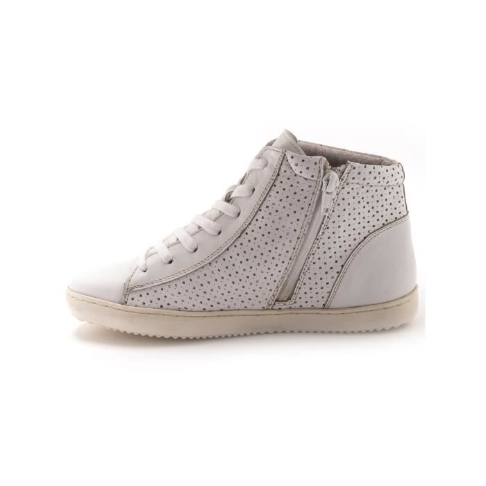 Sneakers montants grande largeur