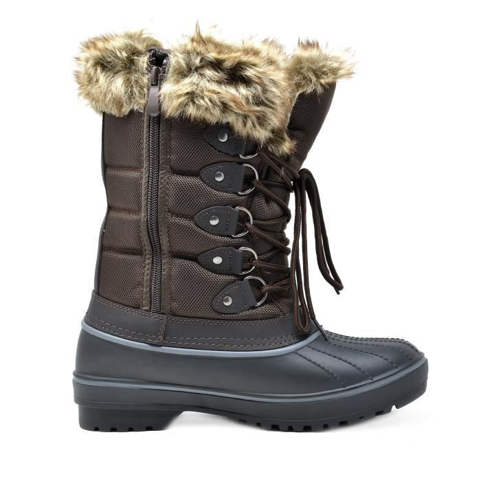 Dp-canada Faux Fur Lined Mid Calf Winter Snow Boots R9L9F Taille-40