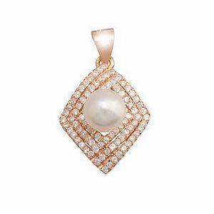 PENDENTIF VENDU SEUL Pendentif perle de culture en argent bano rose zir