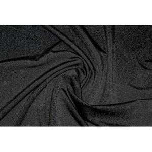 TISSU Tissu Lycra Brillant Noir -Au Mètre