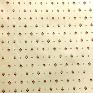 TISSU Tissu  au mètre coton  provençale vence ecru R all