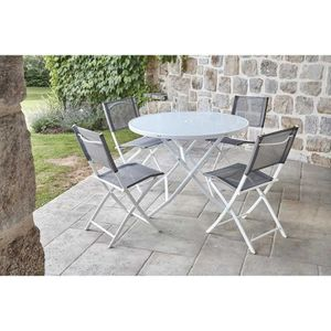 Table jardin ronde 4 personnes