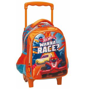 CARTABLE Sac à roulettes Hot Wheels trolley maternelle Race