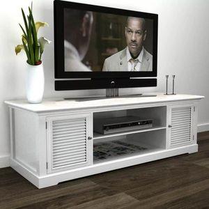 MEUBLE TV Meuble TV Meuble Salon Support TV Bois 121 x 30,5