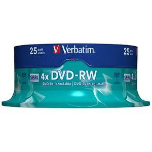 CD - DVD VIERGE 25 DVD-RW VERBATIM