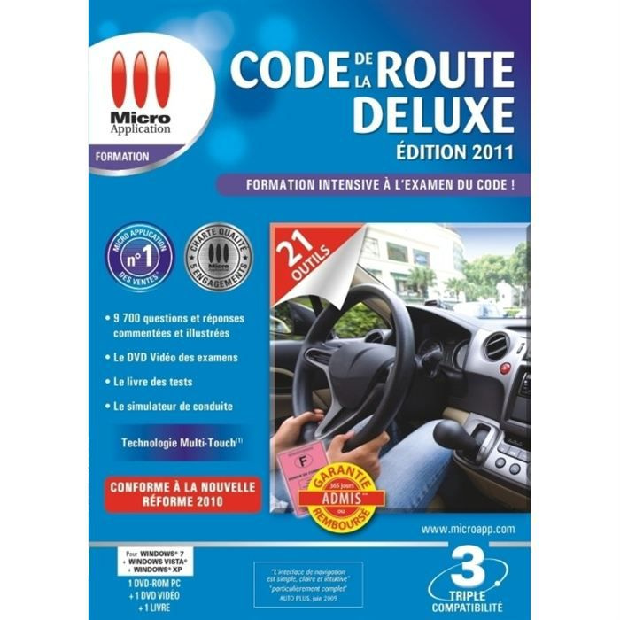 Code De La Route Deluxe 2011 / Logiciel PC