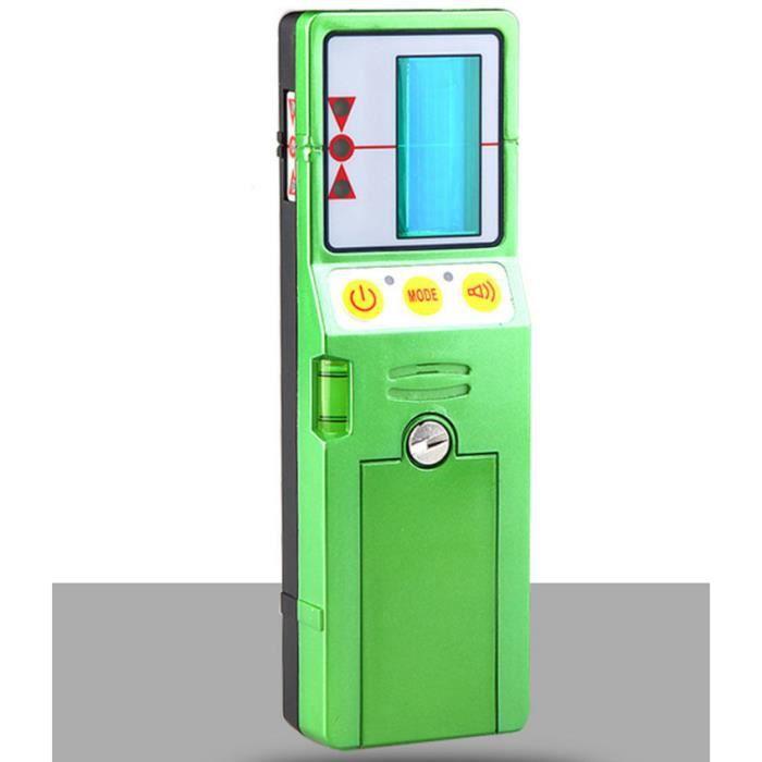 Récepteur de niveau à laser avec pince adapté aux lignes rouges et vertes (FD-9G pour la ligne verte)