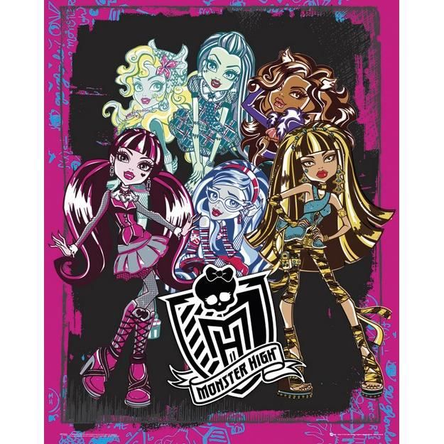 Monster High - Groupe - 40x50cm - AFFICHE - POSTER