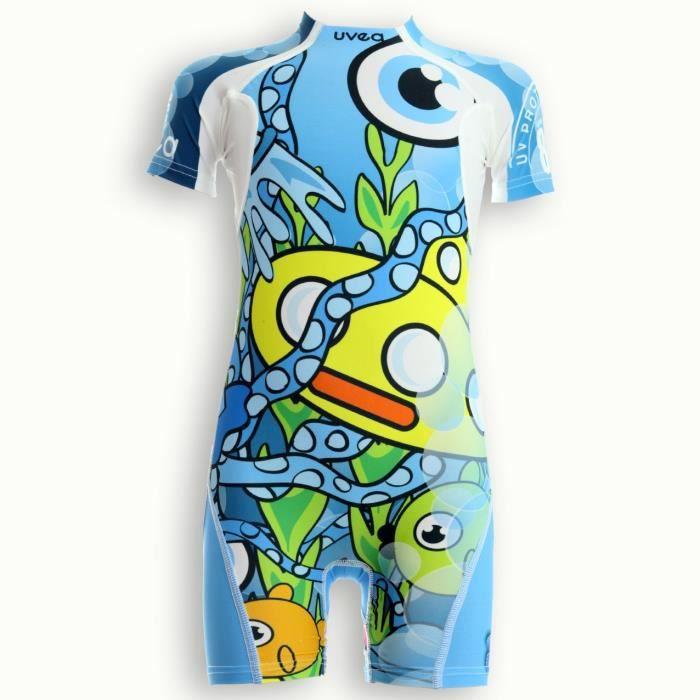 UVEA Combinaison maillot de bain kidsguard anti UV 80+ Manly - Taille 2/4 ans - Imprimé yellowsubmarine