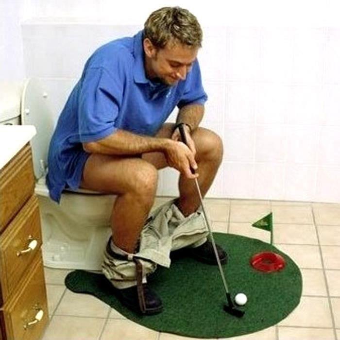 Mini Golf Pour Toilettes - Potty Putter Toilet Golf Game ALIBA0107-12A22567