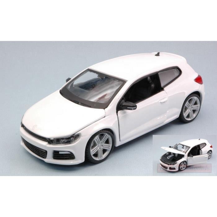 BURAGO BU21060W VW SCIROCCO R 2014 WHITE 1:24 MODELLINO DIE CAST MODEL