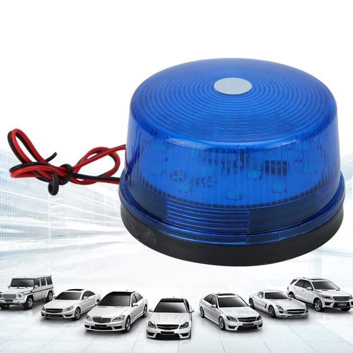 EBTOOLS lumières LED 12V LED clignotant gyrophare stroboscopique LED voyant d'avertissement lampe d'urgence de sécurité (bleu)