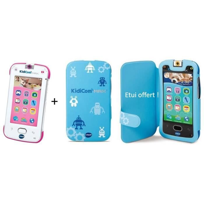 VTECH - KidiCom Max rose & Etui de protection