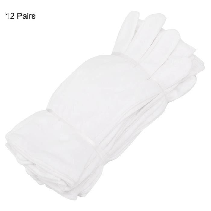 Cikonielf Gants industriels en coton 12 Paires Gants de Protection de Coton pour Usage des Travaux Ménagers Agricoles