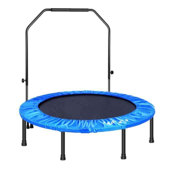 Fitness Pour AVEC Main Courante Trampoline Trainer Cardio Durable Ronde trampoline jeux de recre - jeux d'exterieur