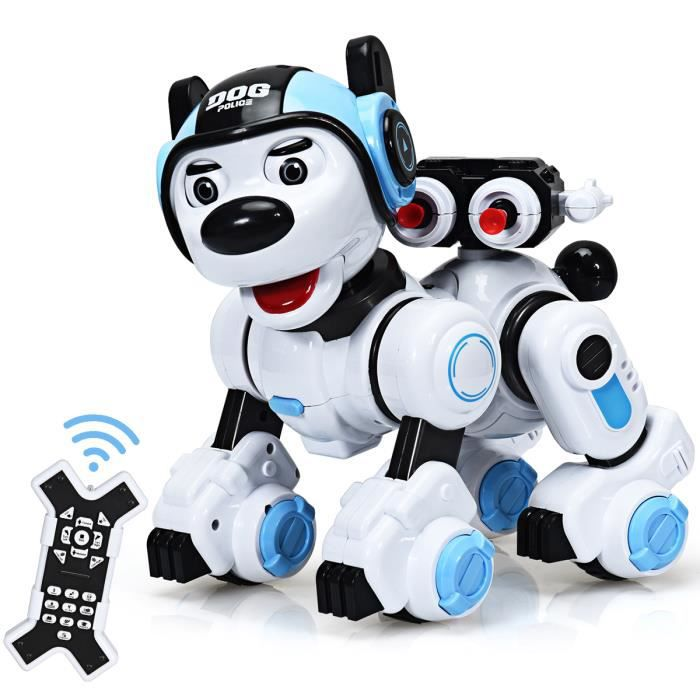 GIANTEX Chien Robot Intelligent Télécommandé pour Enfants avec Fonction Interactive et Programmable, Cadeau pour Enfants plus 6 Ans