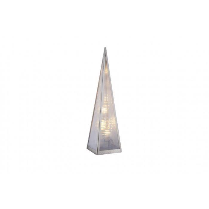Pyramide lumineuse DEL luminaire lampe LED éclairage Noël décoration blanc chaud