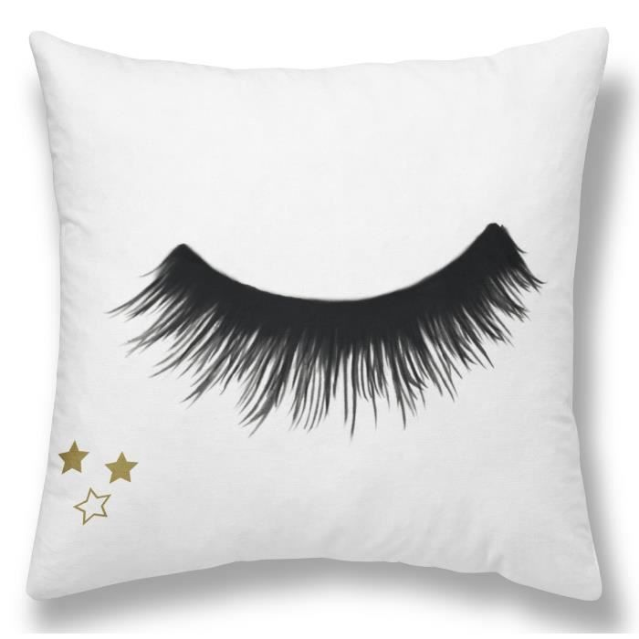TODAY Coussin GOLD LABEL CILS STARS 30x30 cm blanc, noir et or