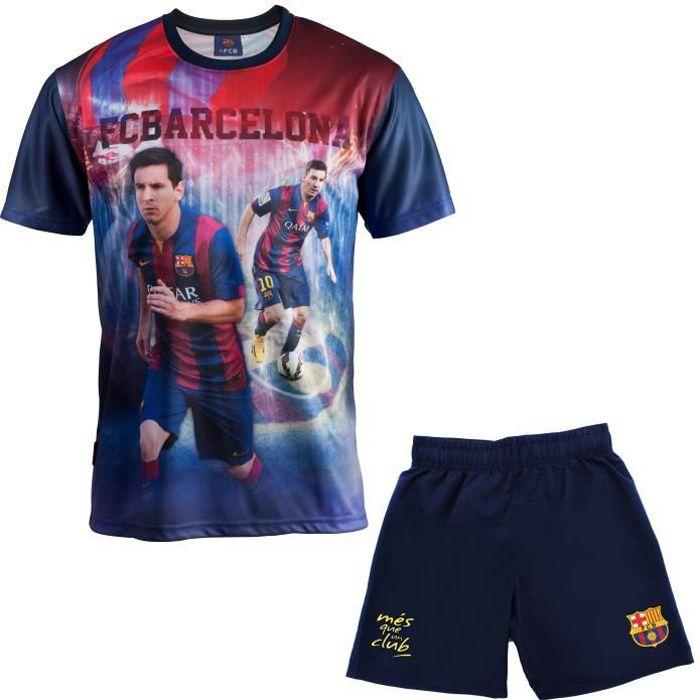Maillot + short enfant Lionel Messi - Fc Barcelone