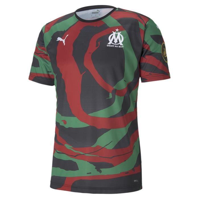 Maillot OM x Africa - noir/rouge chili/vert - S