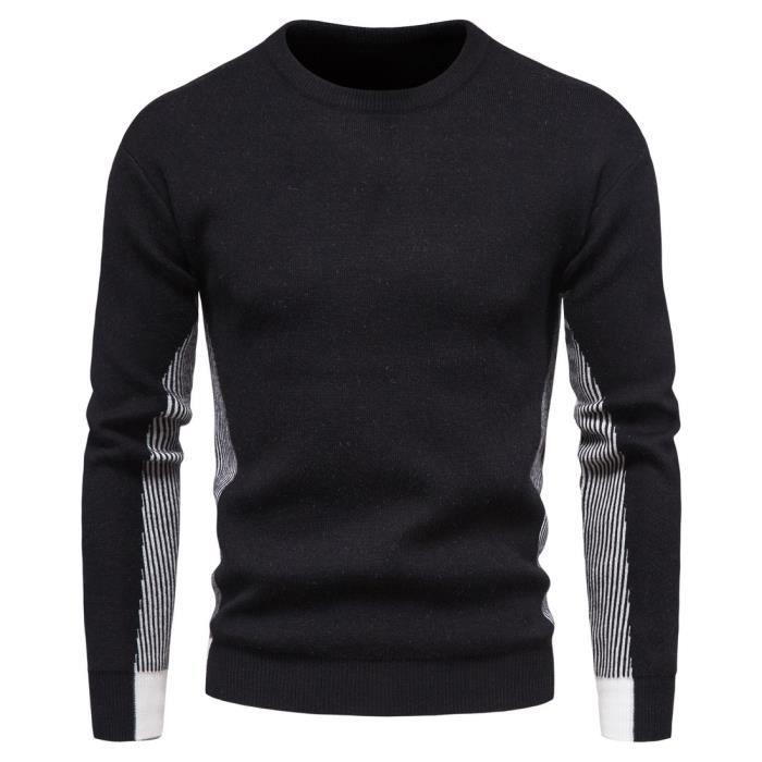 Chandail Pull homme cardigan pullover hoodie masculine veste en tricot losir uni en maille chandail manteau chic cardigan homme