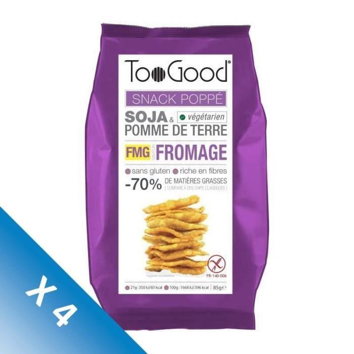 [LOT DE 4] Toogood biscuits apéritifs saveur Fromage 85g
