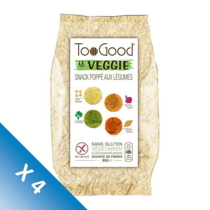 [LOT DE 4] Toogood biscuits apéritifs Le Veggie 85g