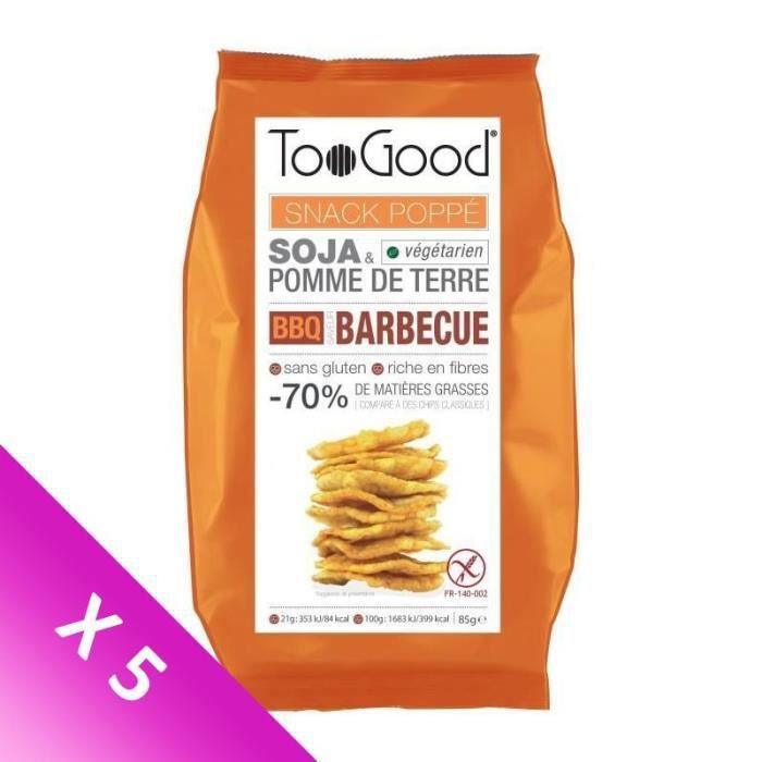[LOT DE 5] Biscuits apéritifs barbecue 85 g TooGood