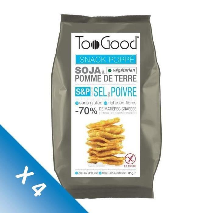 [LOT DE 4] Snack poppé saveur sel et poivre 85g Toogood