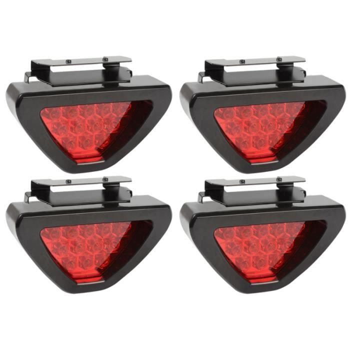 4 PCS Lumière De Frein Arrêt Stationnement Signal Indicateur Lampe LED Voyant D'avertissement pour Voiture Auto
