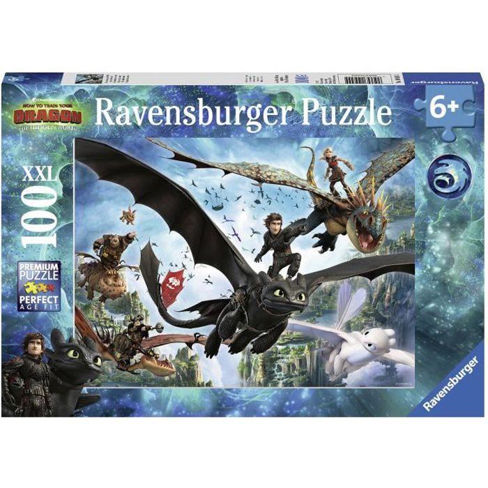 RAVENSBURGER Puzzle 100 p XXL - Le monde caché / Dragons 3