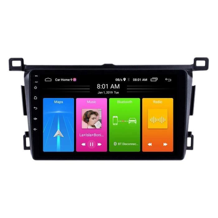 10 Pouces 2 Din Android 10.0 Voiture Lecteur MP5 Radio 2 + 16 GB Wifi Bluetooth Navigation GPS pour Toyota RAV4 2013-2018