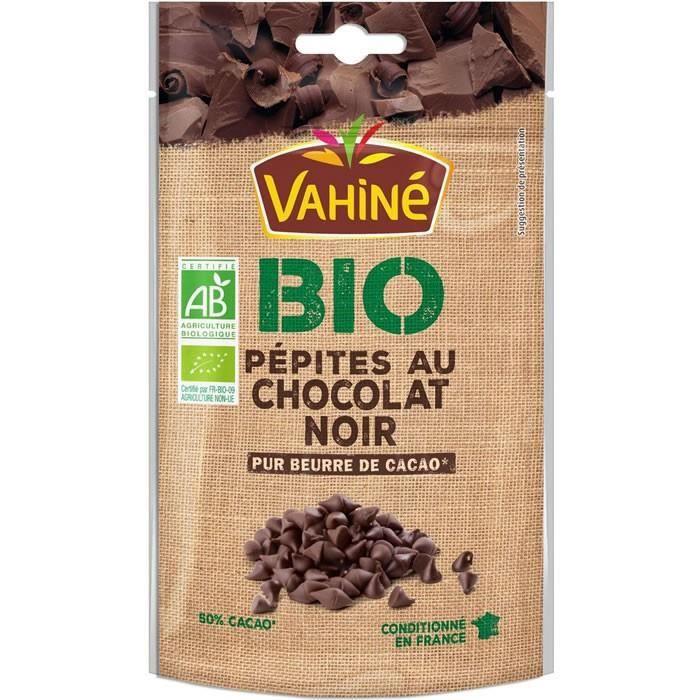 LOT DE 10 - VAHINE : Pépites au chocolat noir bio 100 g