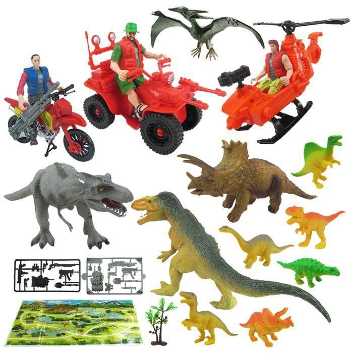 36 Pcs Faux Dinosaure Simulé Jouet Modèle pour Boutique Enfant VEHICULE MINIATURE ASSEMBLE - ENGIN TERRESTRE MINIATURE ASSEMBLE